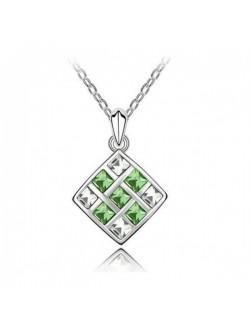 Colier cu cristale verzi