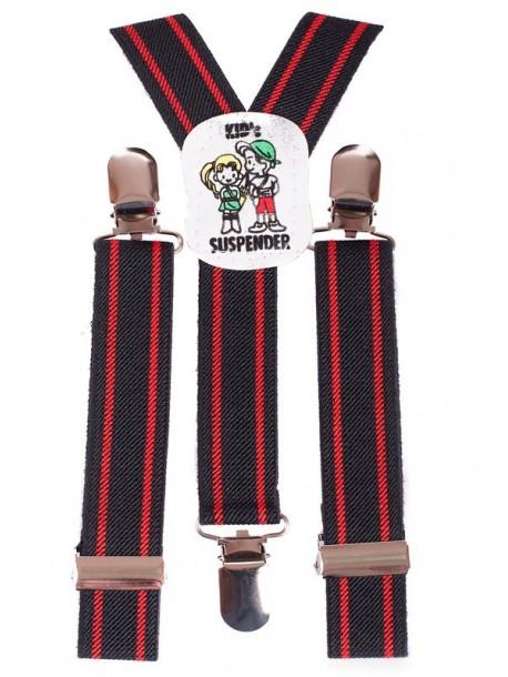 Bretele de copii - rosu si negru