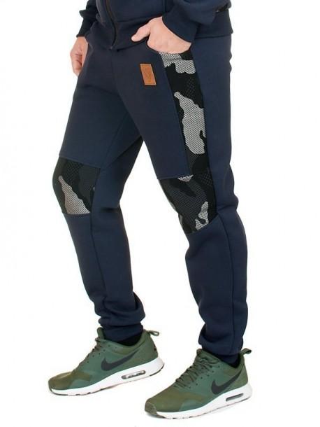 Pantaloni de trening de barbati - albastru inchis