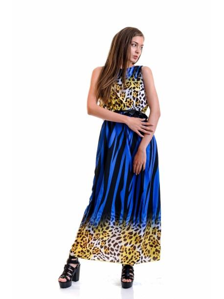 Rochie lunga Zlati albastra