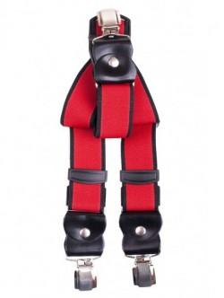 Bretele elegante de barbati - rosii