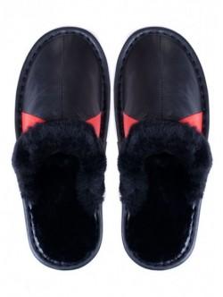 Papuci de casa din piele naturala