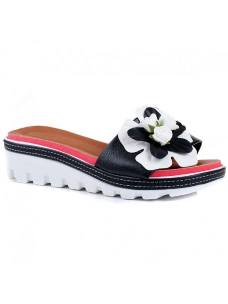 Papuci cu talpa ortopedica Rali negri