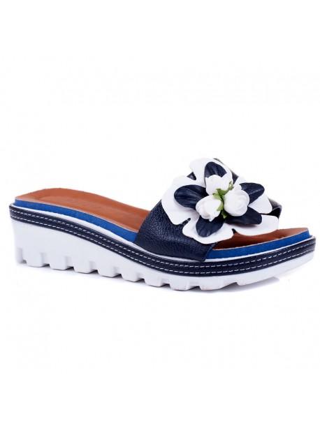 Papuci cu talpa ortopedica Rali albastru inchis