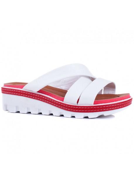 Papuci Florida albi