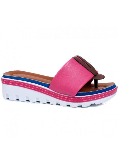 Papuci cu talpa ortopediaca Klarisa roz