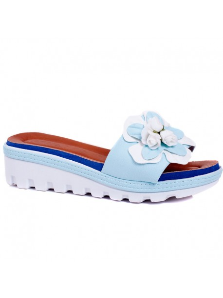Papuci cu talpa ortopedica Rali bleu