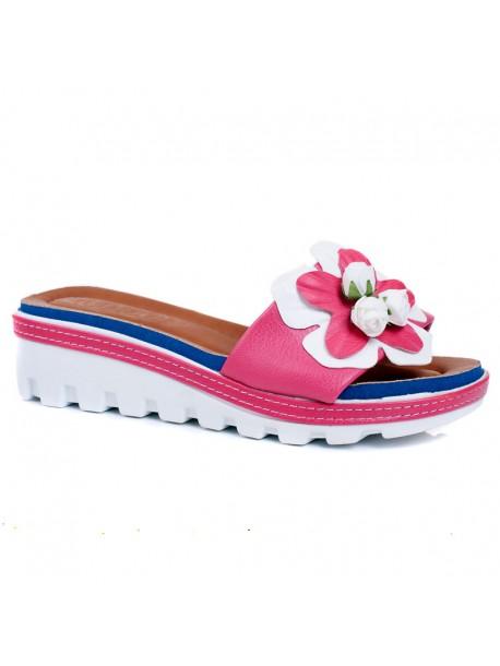 Papuci de dama Rali in roz si albastru