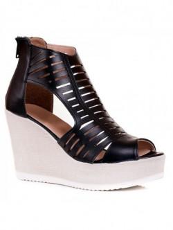 Sandale negre inalte