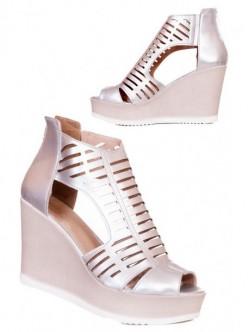 Sandale inalte argintii