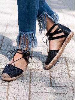 Sandale de dama cu brocart