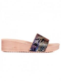 Papuci de dama cu motive florale