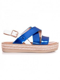 Sandale de dama cu platforma plata