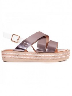 Sandale cu platforma plata - gri