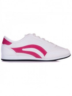Tenisi pe culoare alb si roz