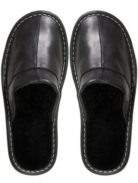 Papuci de casa din piele pentru barbati