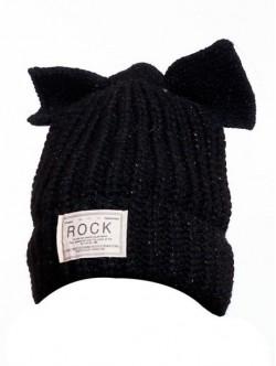Caciula de iarna neagra Rock
