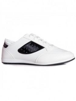 Adidasi de dama in alb si negru