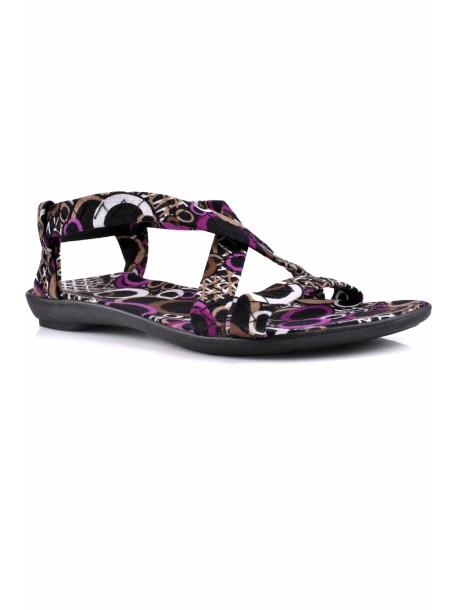 Sandale de dama cu imprimeu ciclam