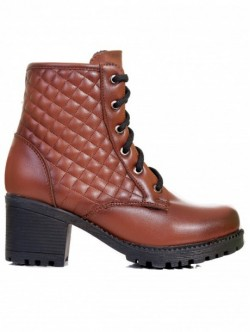 Botine cu toc de dama- Brown