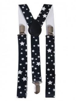 Bretele negre pentru femei - cu stelute