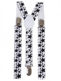 Bretele albe pentru femei - cu stelute
