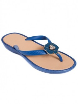 Papuci silicon de dama - albastru