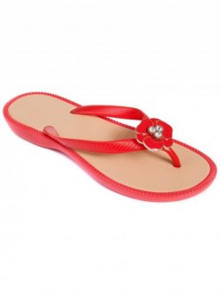 Papuci silicon de dama - rosu