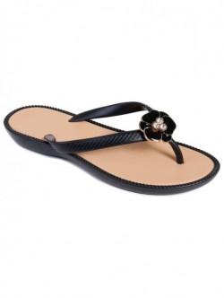 Papuci silicon de dama - negru