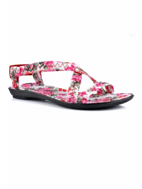 Sandale Andi alb si roz