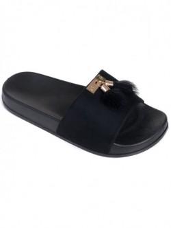 Papuci de dama cu puf