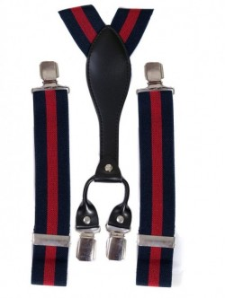 Bretele de pantaloni-culoare rosu si albastru