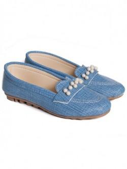 Mocasini pentru femei-albastri