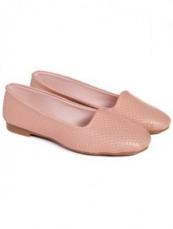 Pantofi fara toc - roz pudra