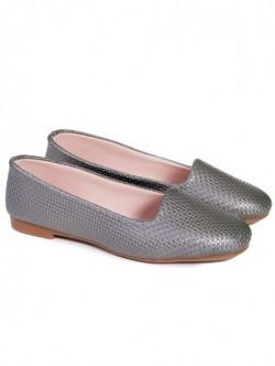 Pantofi fara toc - argintiu