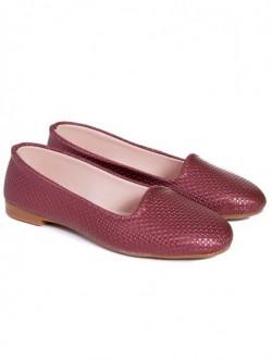 Pantofi fara toc - bordo
