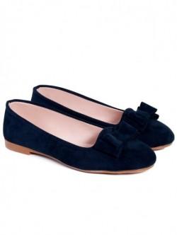 Pantofi cu panglica - albastru