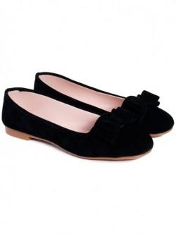 Pantofi cu panglica - negru