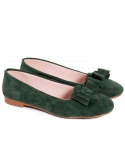 Pantofi cu panglica-verde