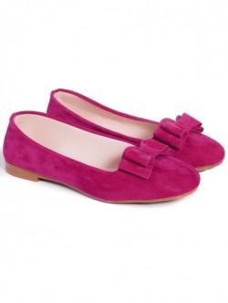 Pantofi cu panglica-roz
