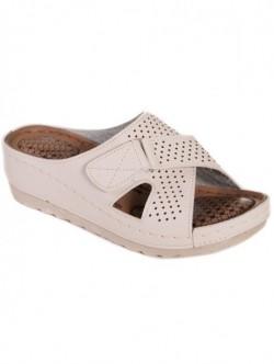 Papuci de dama cu arici - bej