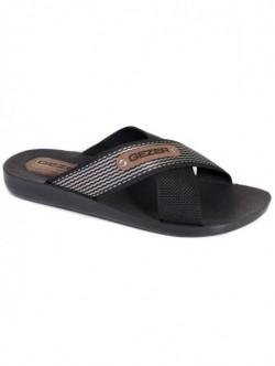 Papuci casual pentru barbati Gezer- negru si argintiu