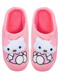 Papuci de uz casnic pentru copii - portocaliu