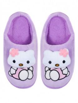 Papuci de uz casnic pentru copii - violet
