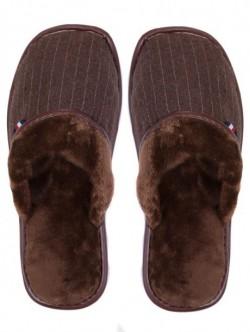 Papuci de uz casnic pentru bărbați - maro