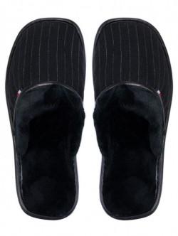 Papuci de uz casnic pentru barbati - negri