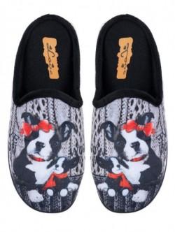 Papuci de casă pentru doamne - negri
