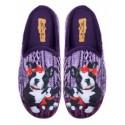 Papuci de uz casnic pentru doamne - violet