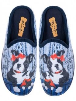 Papuci pentru femei - albastri