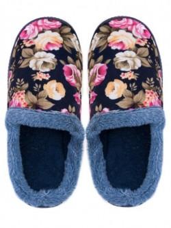Papuci de casa pentru doamne – albastru inchis